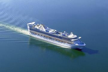 Large cruise ship at calm sea