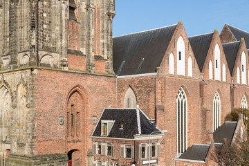 Detail Martini church of Dutch city Groningen