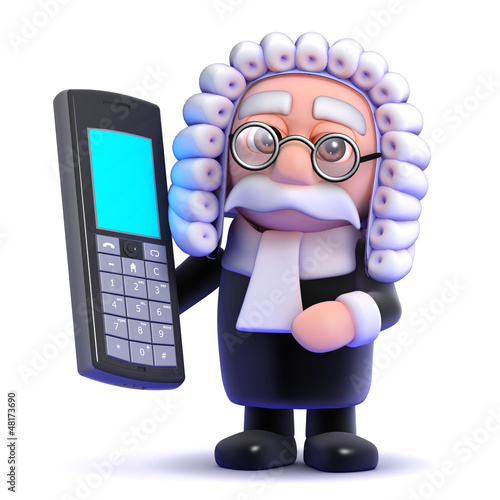 Judge talks on his mobile phone