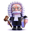 Judge with gavel and law book