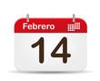 14 febrero calendar,Valentine´s day.