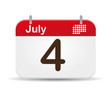 4 of July calendar,independence day´s