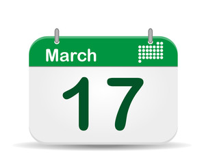 17 March calendar,Saint Patrick day´s.