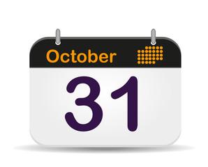 31 October calendar,Halloween.