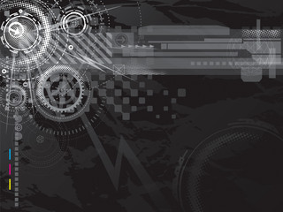 Abstract technology background in black.