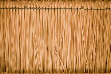 straw Thatch roof background