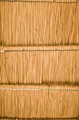 The straw Thatch roof background