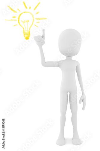 3d man with a new idea