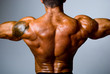 The back muscular man