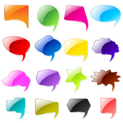 vector illustration of collection of colorful chat bubble