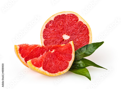 Grapefruit isolated on white background with clipping path