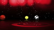 3 Sports Balls and White Transition - HD1080