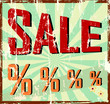 sale sign vintage style, vector illustration
