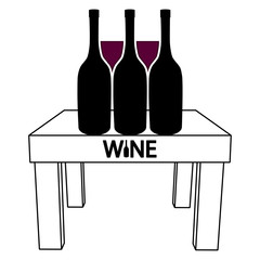 Wine on the table