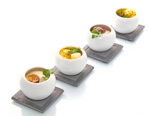 Verrines St Jacques et foie gras