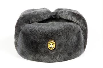 Зимняя шапка военнослужащего