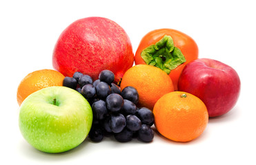 Assortment of exotic fruits isolated