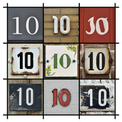 Collage of Numbers Ten