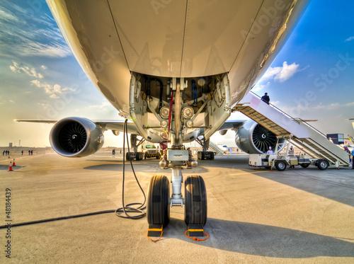 Plexiglas Vliegtuig Landing Gear Airshow