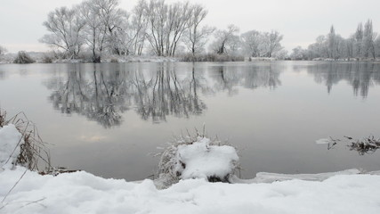 Fluss Havel im Winter