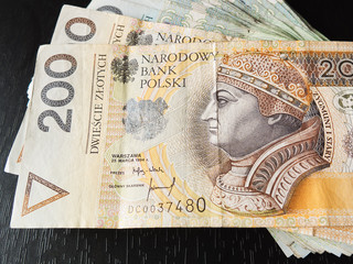 tack of 100's polish zloty