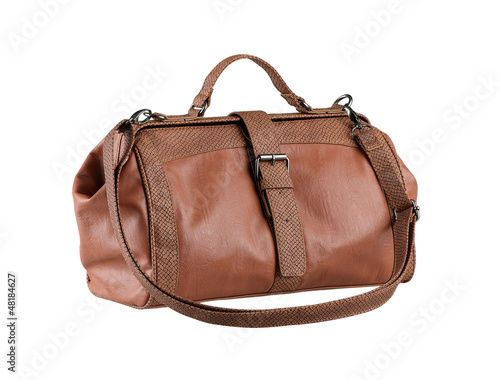 A luxury leather lady handbag