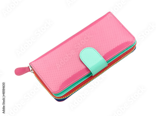 Beautiful pink leather purse for lady