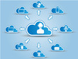 CLOUD COMPUTING WHITE AND BLUE
