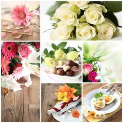 Collage Liebe/Muttertag/Valentinstag
