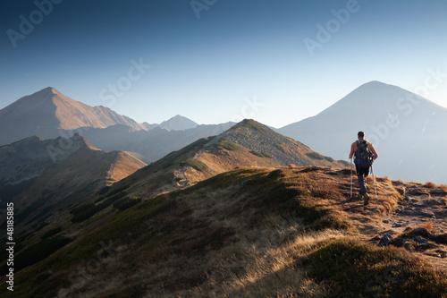 Wanderer im Tatra-Gebirge