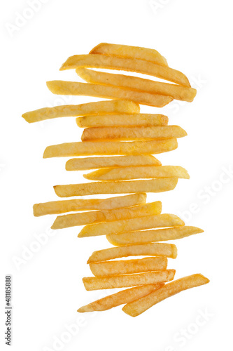 Stack of delicious french fries