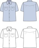 Vector illustration of men's shirt