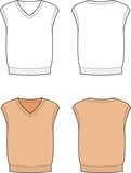 Vector illustration of men's knitted waistcoat