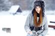 beautiful girl in winter park