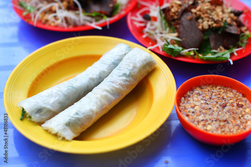 Spring roll wrapper of rice paper, cuisine in Vietnam