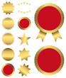 Gold - Sterne - Vignetten