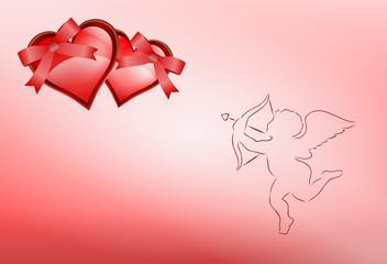 kartka walentynkowa i amor