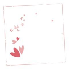 Love butterflies- vector background