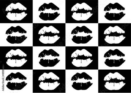 lipstick mark seamless background