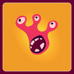 Fantastic monster vector background
