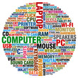 word collage about computer technology