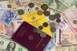 Reiseunterlagen und Wechselgeld