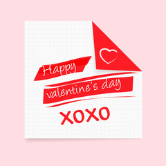 Happy Valentine's Day notepad