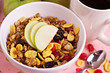 Granola with nuts and fruits