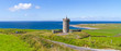 Panorama of Doonagore castle near Doolin in Ireland