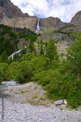 Cascate  dello Stroppia , Val Maira,  Italia