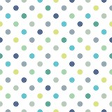 Fototapety Colorful polka dots vector white seamless background pattern