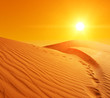 Leinwandbild Motiv Sand dunes in Sahara