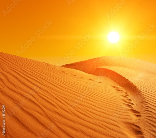 Sand dunes in Sahara - 48192007