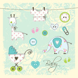 Baby shower design elements